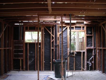 Master bedroom after demolition