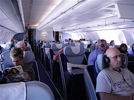 Interior of Airbus 340-600
