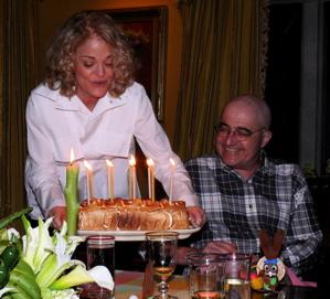 Chris, Cathy, cake!