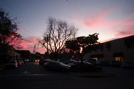 Menlo Sunset fro Carpaccio Restauarnt