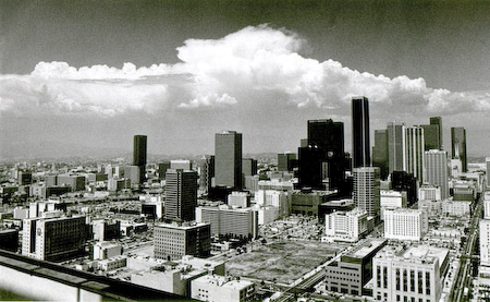 LA Skyline with clouds, prolly from Oxy bldg. roof