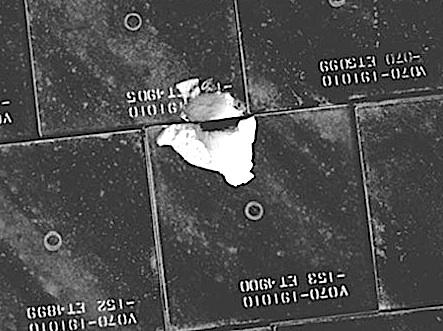 Tile gouge on Endeavour