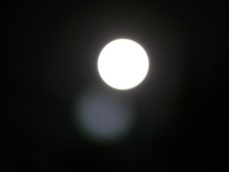 Near full moon snapped from new patio