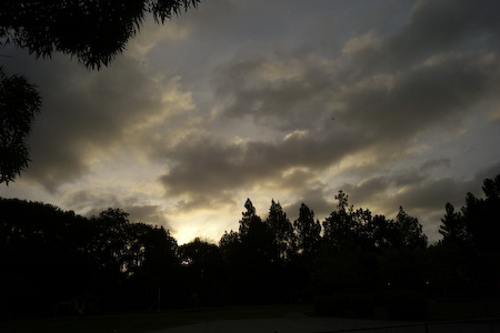 Gray skies over Menlo