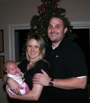 Julie, John and Grace, Christmas 2007