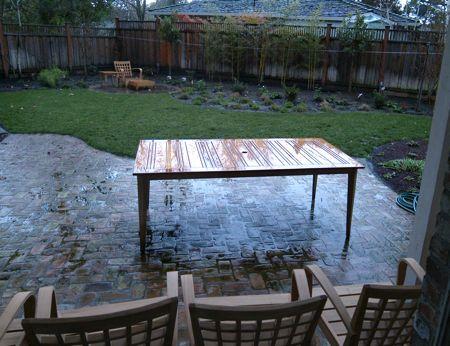Rain on new patio furniture