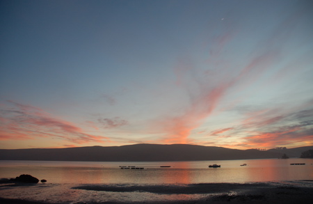 Sunset, Nick's Cove, Tomales Bay