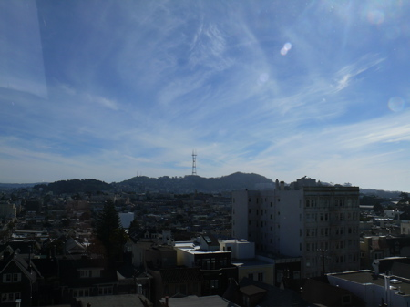 Twin Peaks from Pacific Heights
