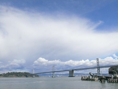 Bay Bridge with nice clouds
