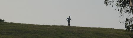 Linda running at Baylands