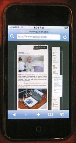 iPhone, Safari and gulker.com