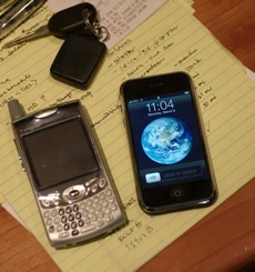 iPhone and Treo