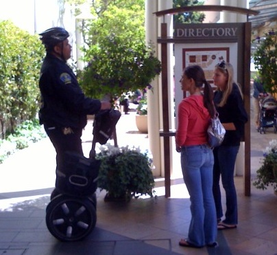 Segway safety officer at Stanford Shopping Center