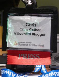 Influential Blogger badge from Stanford Summit