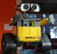 Wall-E cruising in the kitchen
