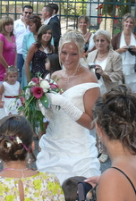 A bride at City Hall, Annecy