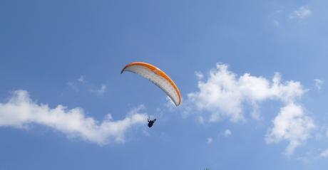Parasailing in Bauge Regional Park
