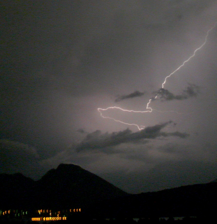 Lightning over Lac d'Annecy