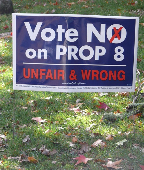 No on 8 sign